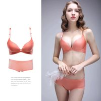Cute powder-hollowed-out micisty underwear suit